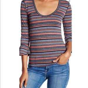 Free People Surprise Metallic Party Tee A23